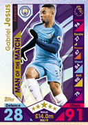 Match Attax Extra 2017 Man Of The Match Cards
