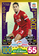 Match Attax Extra 2018 100 Club Cards