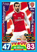 Match Attax Extra 2018 New Signings Cards
