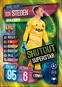 Match Attax Extra 2020<br />Shutout Superstar Cards